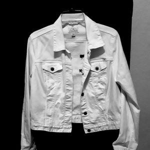 Womans large White Jean jacket.